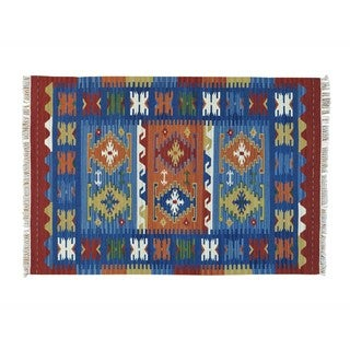 Reversible Anatolian Kilim Handmade Flat Weave Oriental Rug (4'1 x 6')
