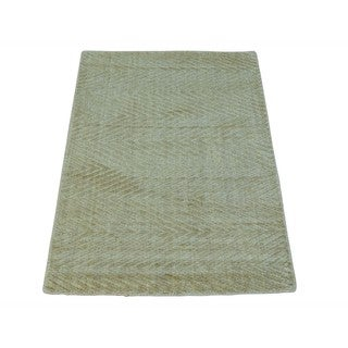 Tone on Tone Hand-loomed Viscose Rayon from Bamboo Modern Oriental Rug (2' x 3')