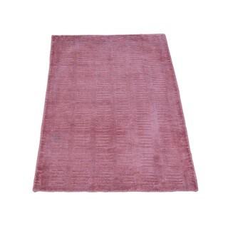 Rayon from Bamboo Silk Hand-loomed Tone on Tone Modern Oriental Rug (2' x 3')