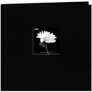 Book Cloth Cover Post Bound Album 8inX8inBlack