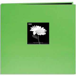 Pioneer Book Cloth Cover Post Bound Album 8inX8inCitrus Green