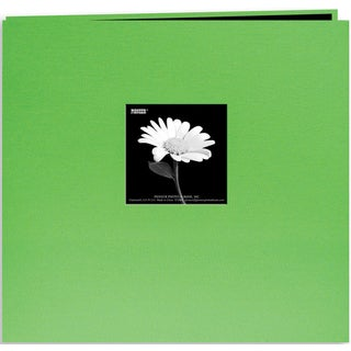 Pioneer Book Cloth Cover Post Bound Album 8inX8inCitrus Green