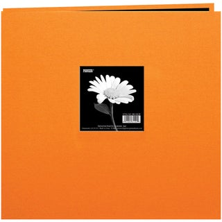 Book Cloth Cover Post Bound Album 8inX8inOrange
