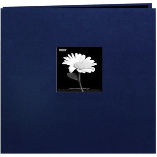 Pioneer Book Cloth Cover Post Bound Album 8inX8inRegal Navy