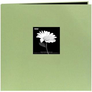 Book Cloth Cover Post Bound Album 8inX8inSage Green