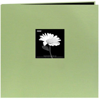 Book Cloth Cover Post Bound Album 8inX8inSage Green