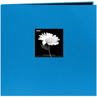 Book Cloth Cover Post Bound Album 8inX8inSky Blue