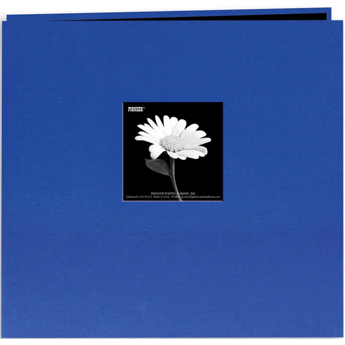 Pioneer Book Cloth Cover Post Bound Album 8inX8inCobalt B...