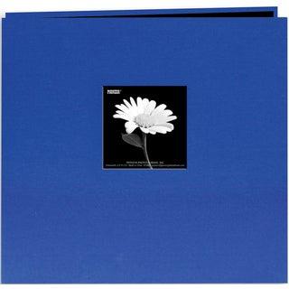 Book Cloth Cover Post Bound Album 8inX8inCobalt Blue