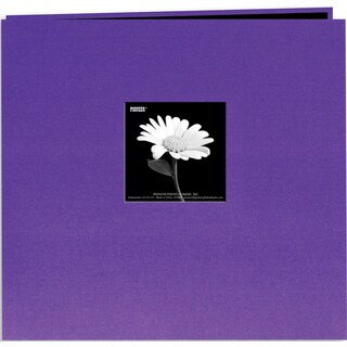 Pioneer Book Cloth Cover Post Bound Album 8inX8inGrape Purple