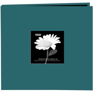 Book Cloth Cover Post Bound Album 8inX8inMajestic Teal