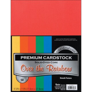 Core'dinations Value Pack Cardstock 8.5inX11in 50/PkgPrimary Smooth