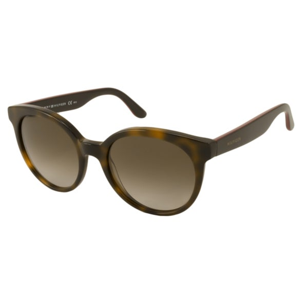 33f525db7c3 Shop Tommy Hilfiger TH1242S Women s Round Sunglasses - Free Shipping Today  - Overstock - 10556411