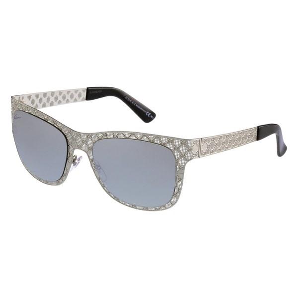 Silver Mirror Lenses Silver Frame Sunglasses - Gucci GG 4266/S