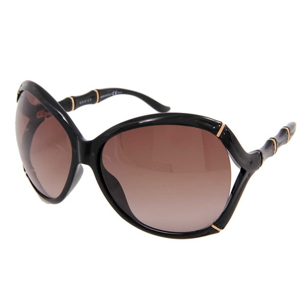 90816a92590 Shop Gucci GG 3509 S Brown Gradient Lenses Black Gold Frame Sunglasses -  Free Shipping Today - Overstock - 10556429