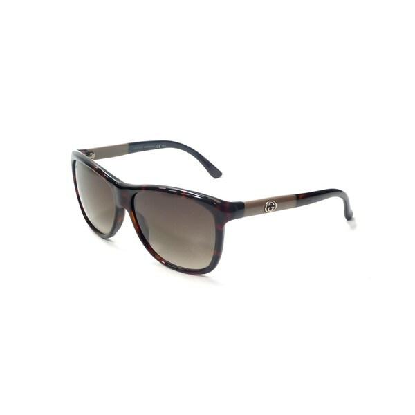 Brown Gradient Lenses Tortoise/Grey Frame Sunglasses - Gucci GG 3613/S
