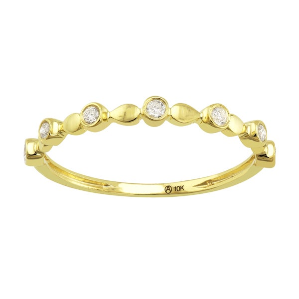 10k Gold 1/8ct TDW Diamond Anniversary Stackable Band Ring