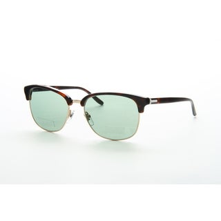 Gucci GG 2227/S Light Blue Lense Tortoise Frame Sunglasses