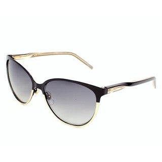 Gucci GG 4255/S Grey Gradient Lenses Black / Gold Frame Sunglasses