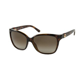 Gucci GG 3645/S Brown Gradient Lenses Tortoise Frame Sunglasses