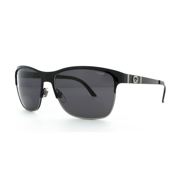 fbb5dc0f46a Shop Gucci GG 4232 S Polarized Grey Lenses Black Frame Sunglasses - Free  Shipping Today - Overstock - 10556491