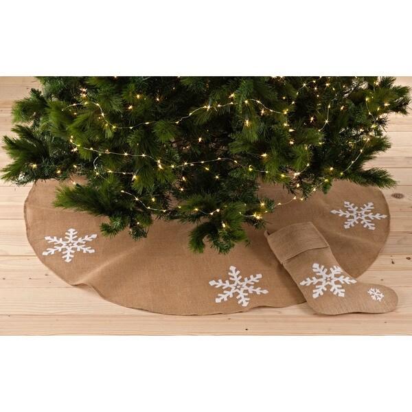 Snowflake Design Stocking or Tree Skirt