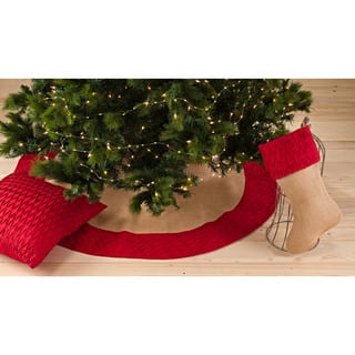Diamond Pleated Design Stocking or Tree Skirt|https://ak1.ostkcdn.com/images/products/10556502/P17635264.jpg?impolicy=medium
