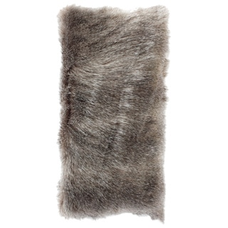 Faux Fur Bolster Pillow