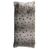 Harp & Finial Faux Fur Ponca Bolster Pillow