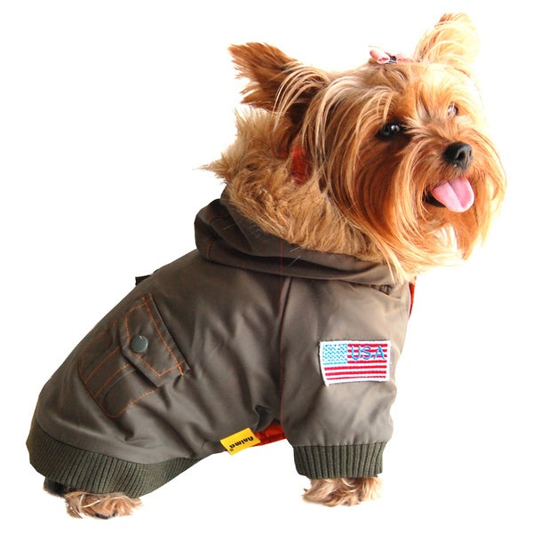 Anima Army Bomber-style Dog and Pet Jacket