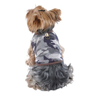 ANIMA Camouflage Mesh Tank Top Dog and Pet Shirt - Green
