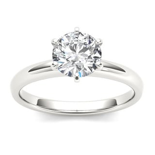 De Couer 14k Gold 1ct TDW Diamond Solitaire Engagement Ring