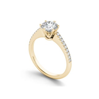 De Couer 14k Gold 1 1/5ct TDW Diamond Classic Engagement Ring