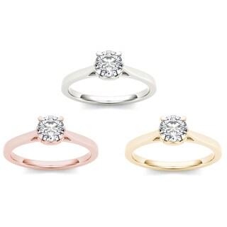 De Couer 14k Gold 1ct TDW Diamond Exquisite Engagement Ring (H-I, I2)