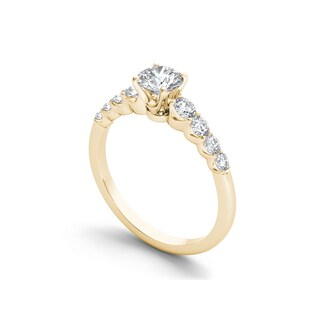 De Couer 14k Gold 1 1/4ct TDW Diamond Classic Engagement Ring