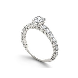 De Couer 14k Gold 1ct TDW Diamond Classic Engagement Ring (Option: 7.75)