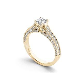 De Couer 14k Gold 1 1/2ct TDW Diamond Classic Vintage Engagement Ring