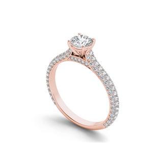 De Couer 14k Gold 1 1/4ct TDW Diamond Classic Engagement Ring