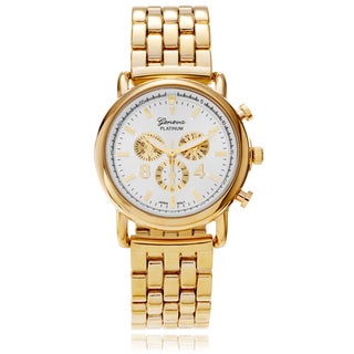 Geneva Platinum Women's Panther Link Watch