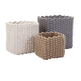 Natural Cotton Rope Baskets (Set of 3)