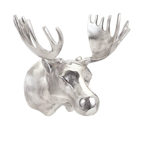 Blaine Silver Moose Wall Mount