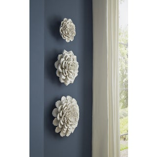 Evington Large Porcelain Wall Flower Free Shipping Today 10559572