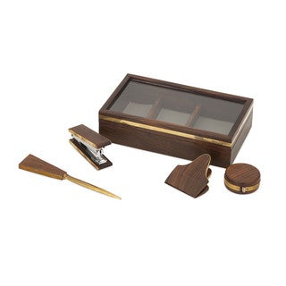 Beth Kushnick Desk Set in Wood Box