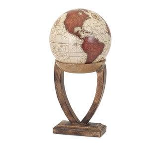 Merrin Globe with Wood Base - Large