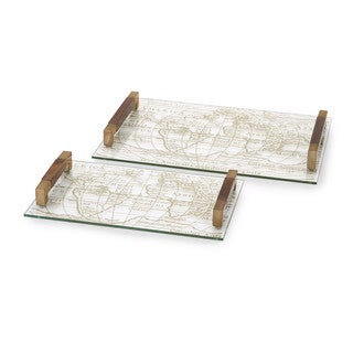 Beth Kushnick Glass Trays (Set of 2)
