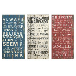 Rules of Life Wall Decor (Set of 3)