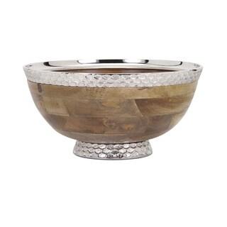 Mango Wood Pedestal Bowl