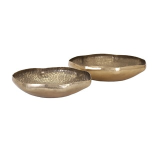Valton Hammered Metal Bowls (Set of 2)