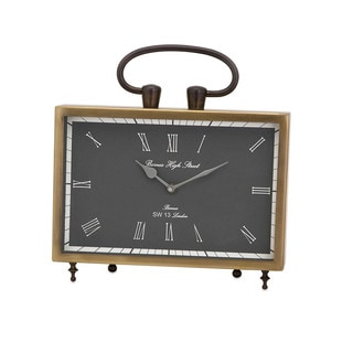 Beth Kushnick Brass Desk Clock