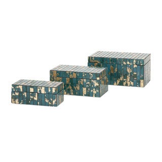 Glacier Mosaic Boxes (Set of 3)